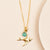 Sparrow with faceted Apatite Necklace
