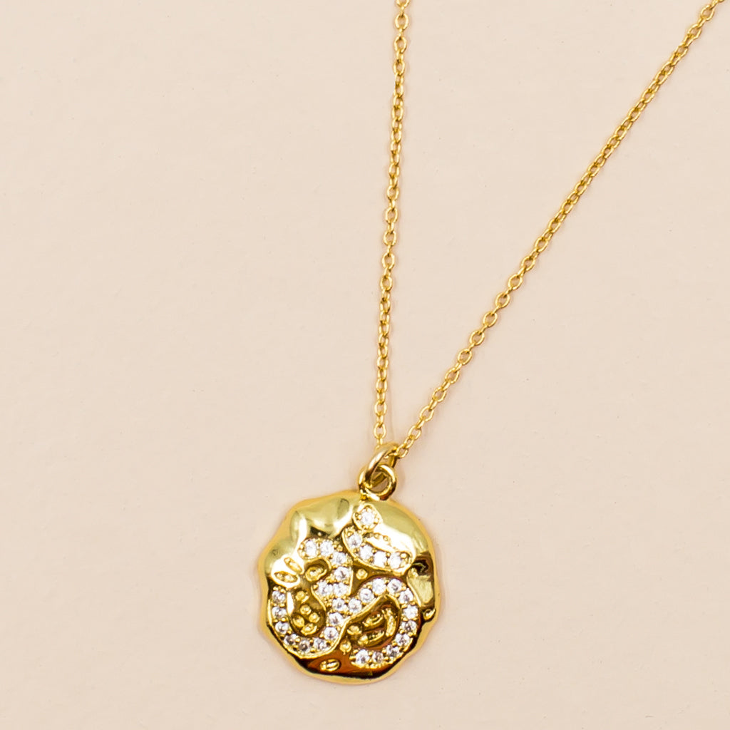 Om with Cubic Zirconia Necklace