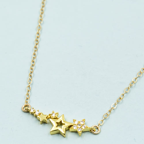 Sparkling Small Stars Necklace