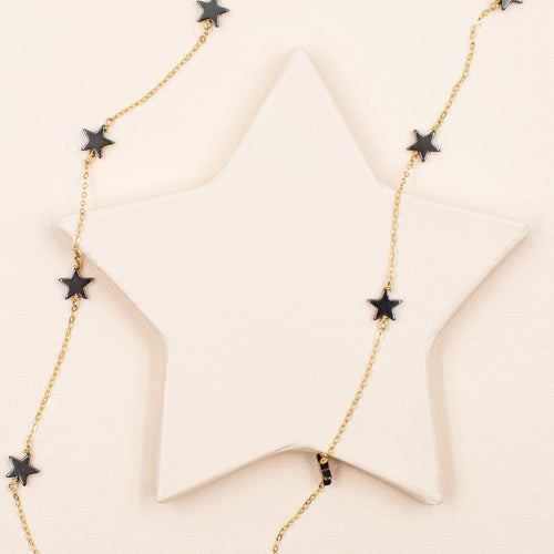 Hematite Star Necklace