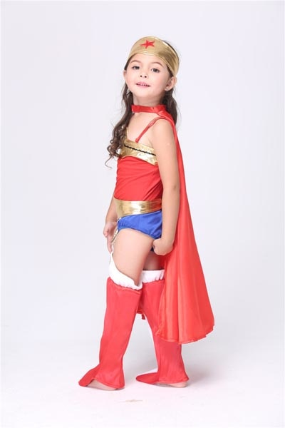 your little girl wonder child girls costume halloween captain amarica kids superhero costumes super hero cosplay