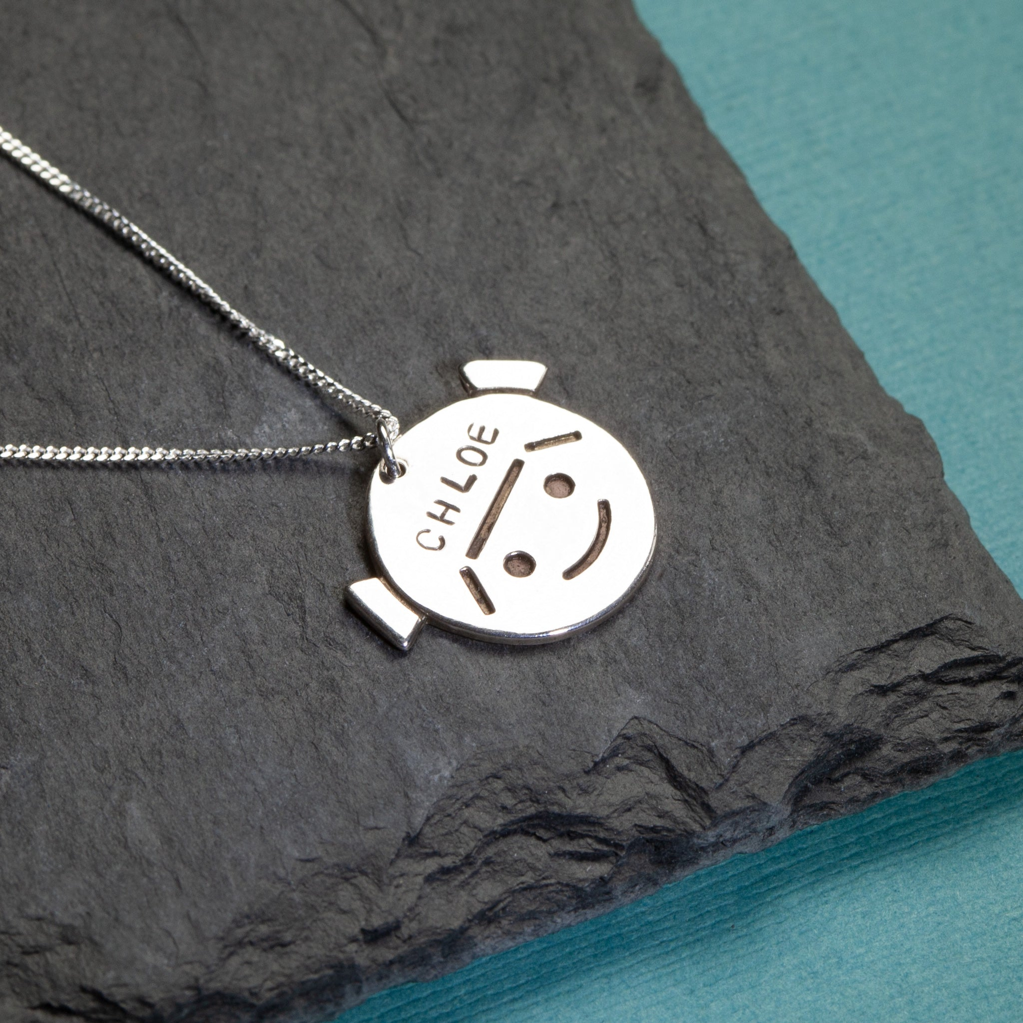 Sterling silver pendant with Kidzcharmz.