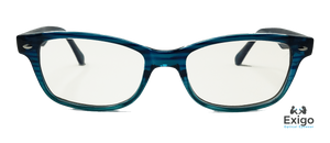 Retro Blue Children's Blue Light Computer Glasses