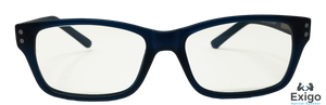 Retro Dark Blue Children's Blue Light Computer Glasses