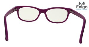 Retro Purple Children's Blue Light Computer Glasses