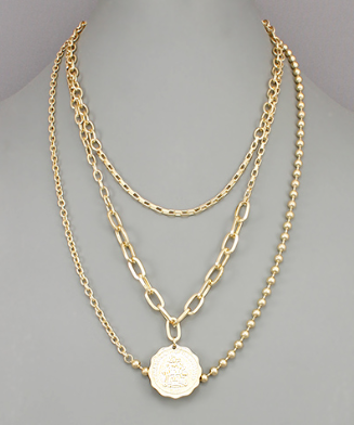 Coin Layer Necklace - Preppy Pineapple