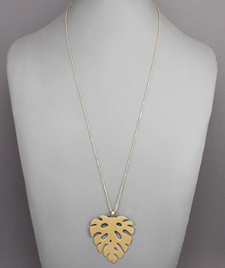 Tropical Leaf Necklace - Preppy Pineapple