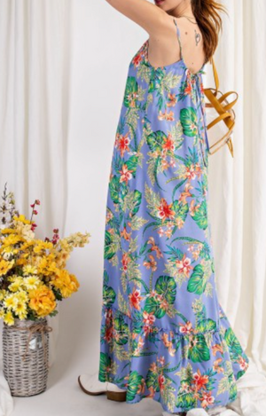 Brighter Mornings Maxi Floral Dress