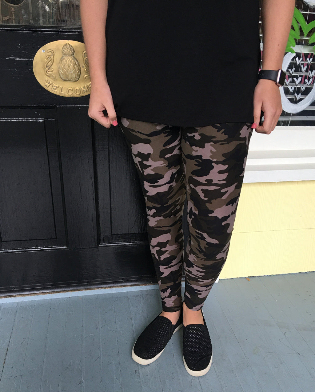 Buttery Soft Camo Leggings - Preppy Pineapple