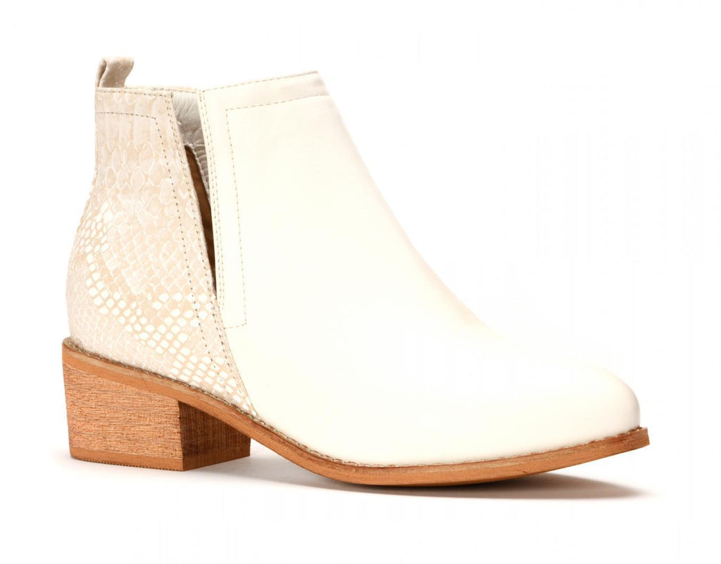 Corky's Shield White Booties - Preppy Pineapple