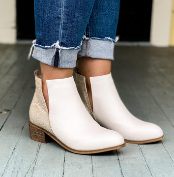 Corky's Shield White Booties
