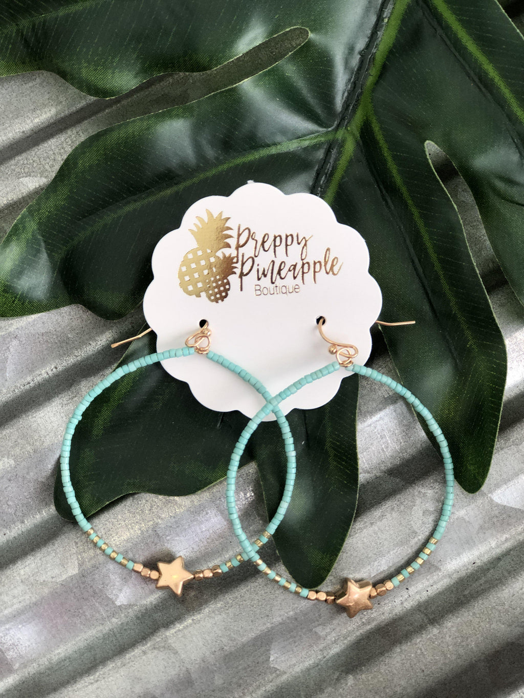 Courtney Earrings - Preppy Pineapple