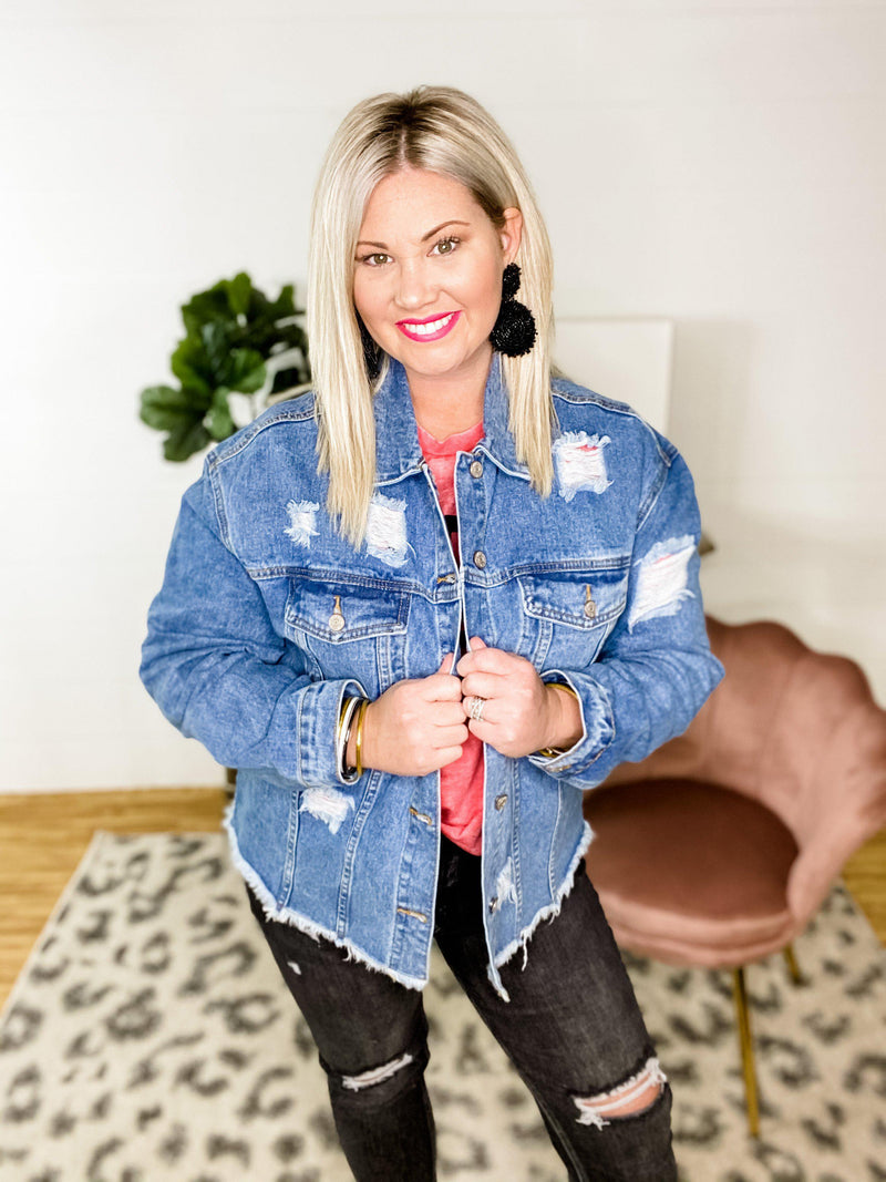 Denim Dreams Jacket - Preppy Pineapple