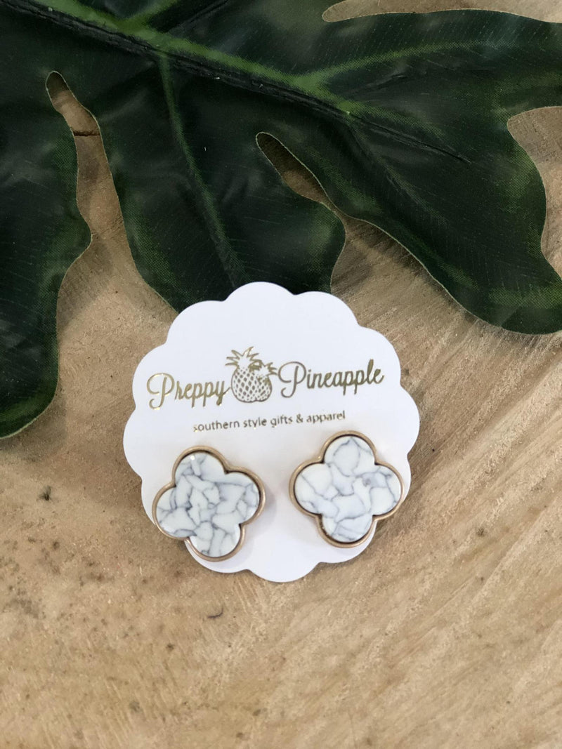 Clover Stud Earrings - Preppy Pineapple
