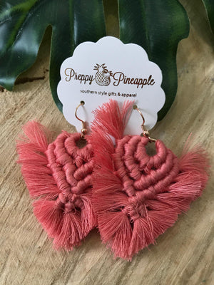 Thread Triangle Tassel Earrings - Preppy Pineapple