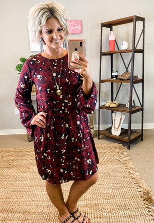 Fall Floral Dress - Preppy Pineapple