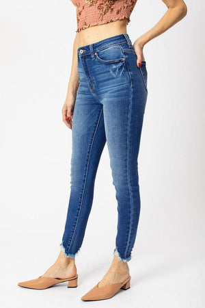 Gemma High Rise Ankle Skinny - Preppy Pineapple