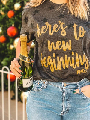 Here's to New Beginnings Tee - Preppy Pineapple