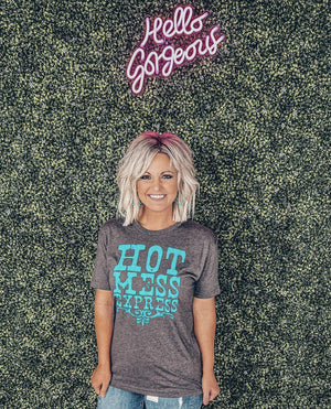 Hot Mess Express Tee - Preppy Pineapple