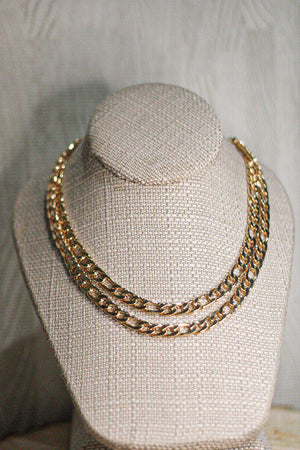 Layered Cuban Length Necklace