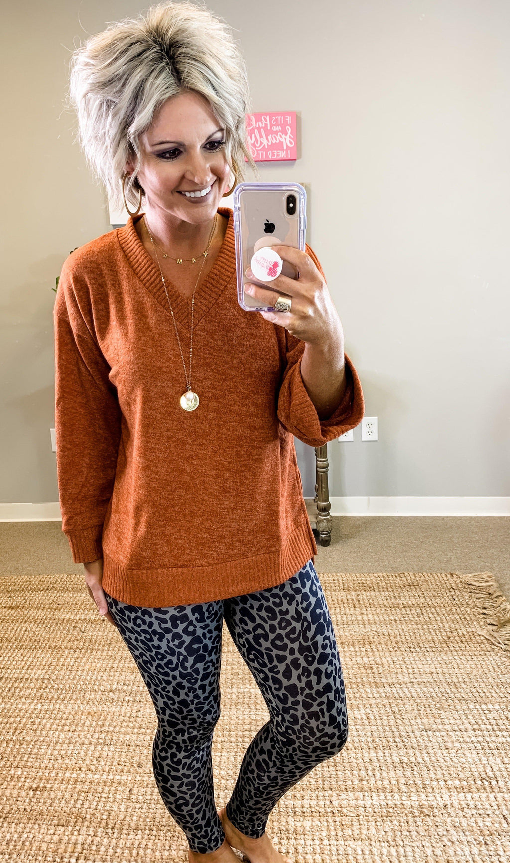 Leaping Leopard Leggings - Preppy Pineapple