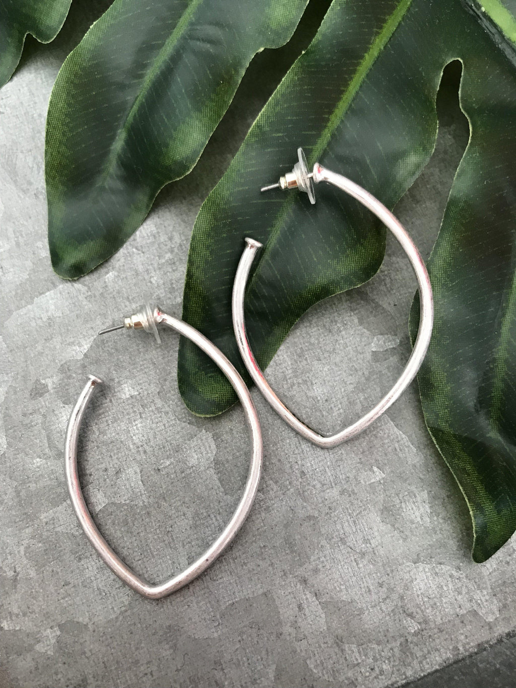 Marquise Open Hoops - Preppy Pineapple