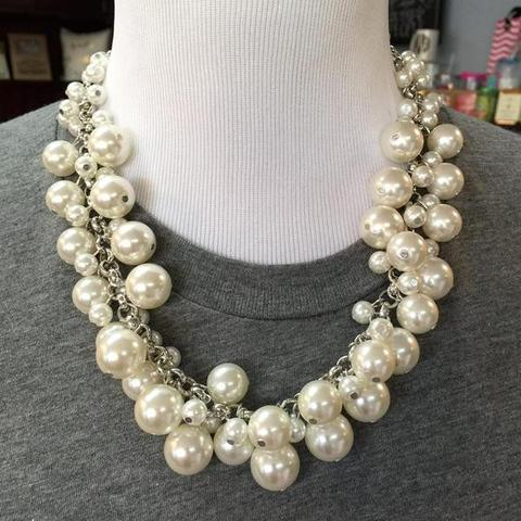 Molly Silver Pearl Necklace - Preppy Pineapple
