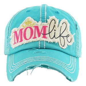 Mom Life Distressed Baseball Cap - Preppy Pineapple