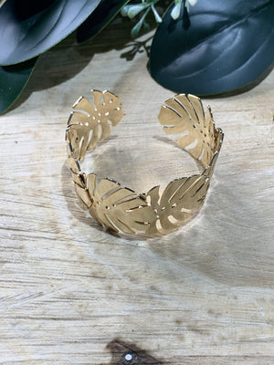 Multi Tropical Leaf Cuff