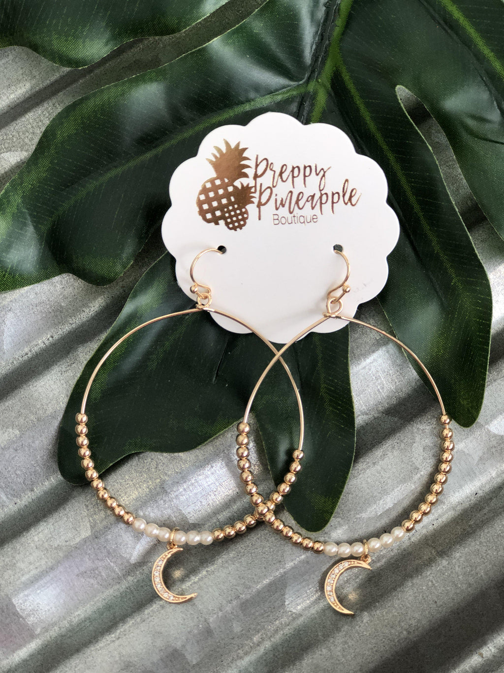 Polly Earrings - Preppy Pineapple