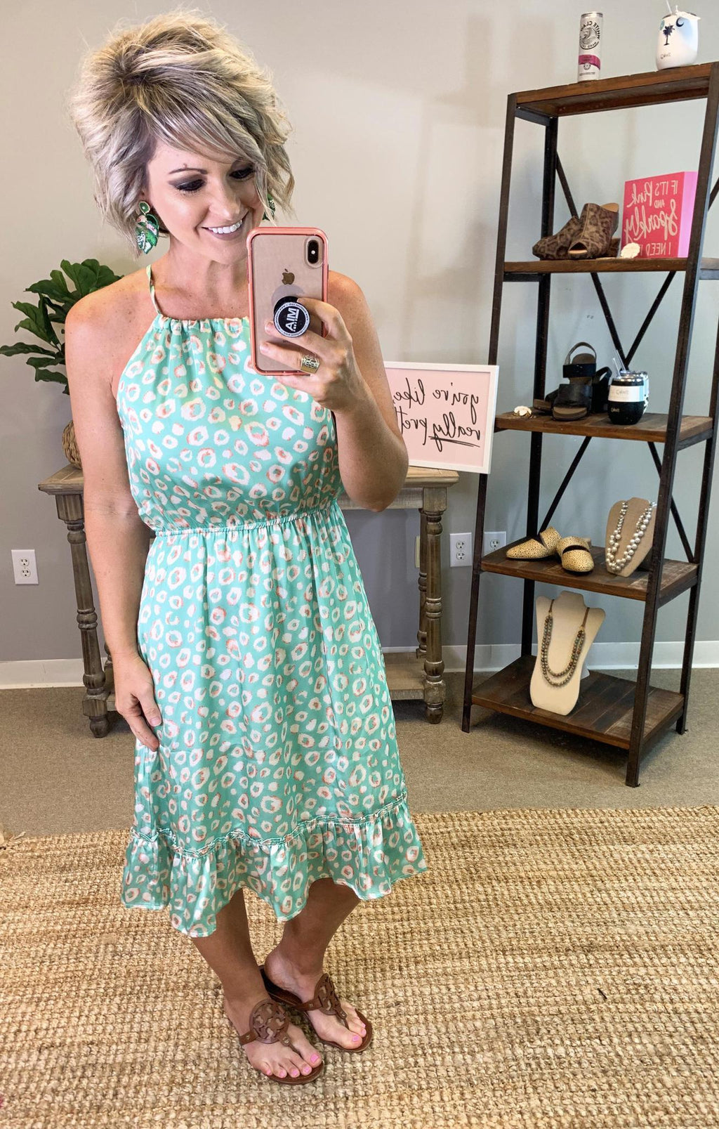 Ready For You Leopard Dress - Preppy Pineapple
