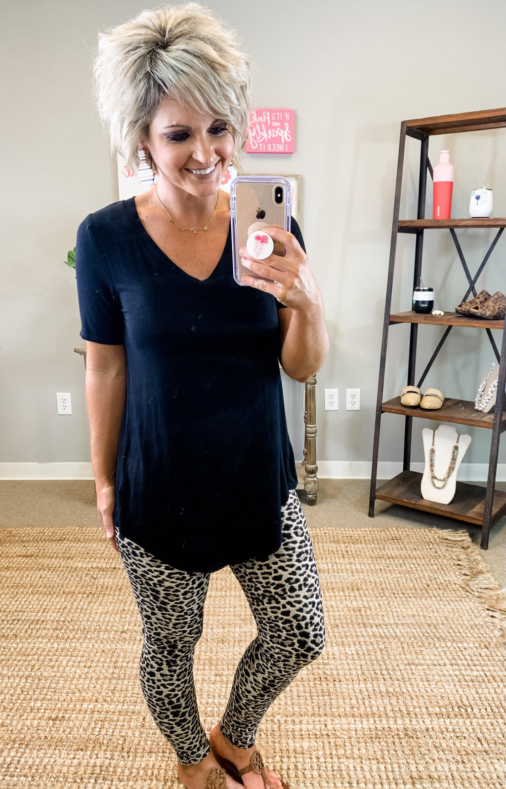 Sassy Leopard Leggings - Preppy Pineapple