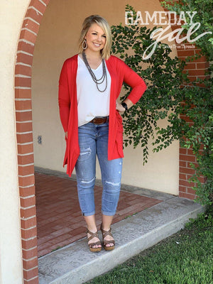 Solid Layering Cardigan - Preppy Pineapple