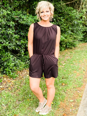 Zenana | Sophisticated Style Romper | - Preppy Pineapple Boutique