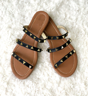 Stacey Studded Sandals - Preppy Pineapple