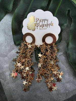 Star Fringe Earrings - Preppy Pineapple