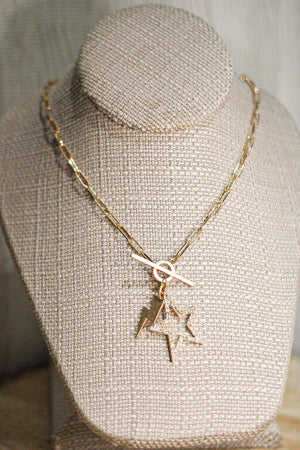 Star & Lightning Bolt Chain Necklace