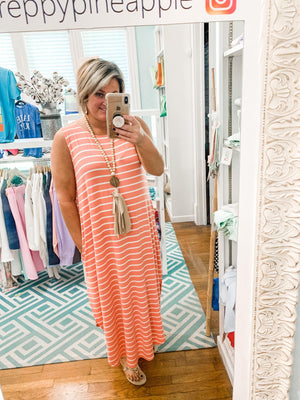 Striped Crush Maxi - Preppy Pineapple