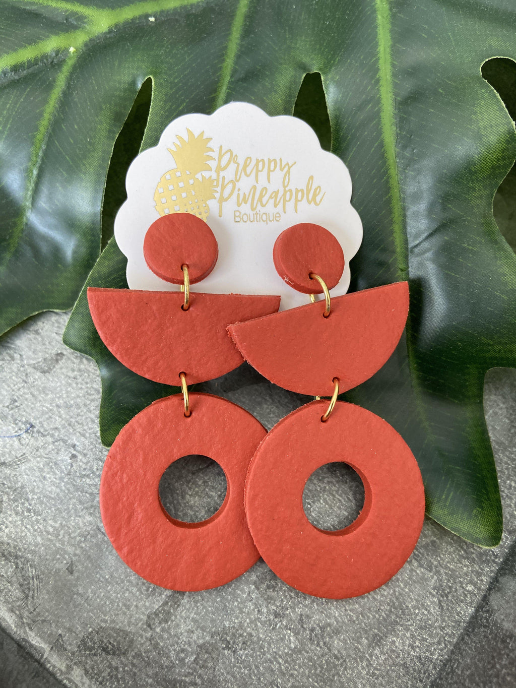 Three Tier Open Circle Earrings - Preppy Pineapple