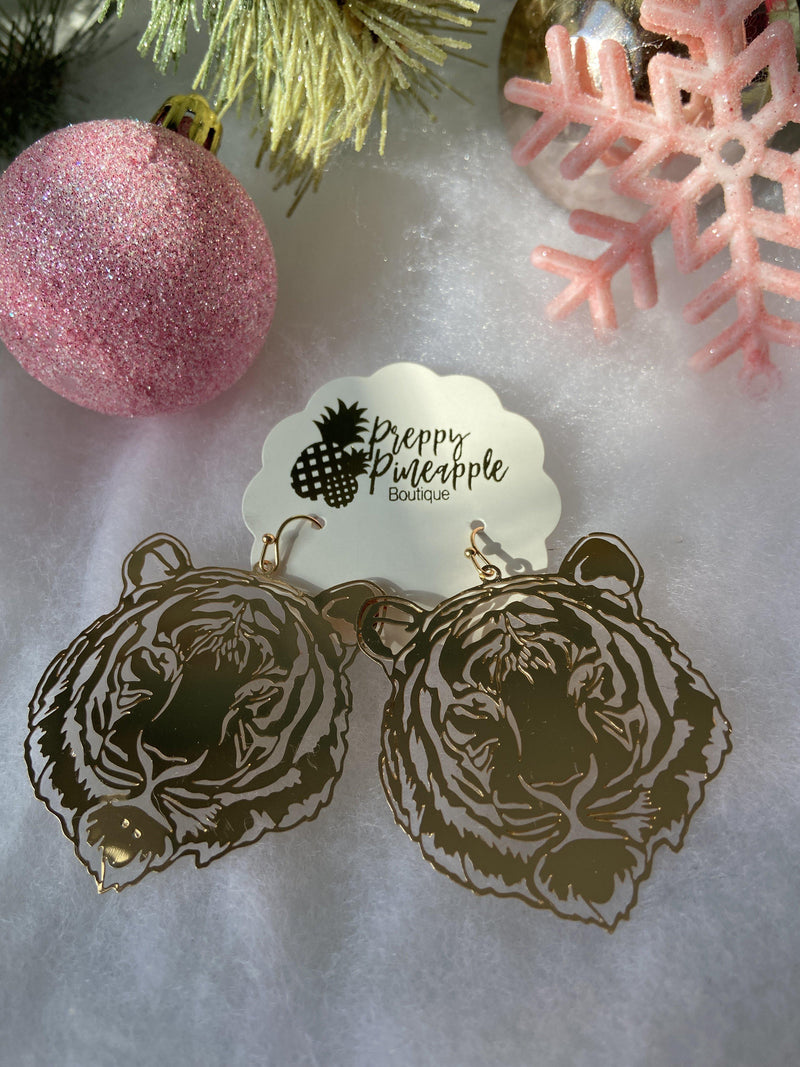 Golden Stella | Tiger Filigree Earrings | - Preppy Pineapple Boutique