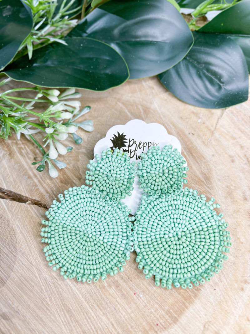 Two-tone Bead Disc Earrings