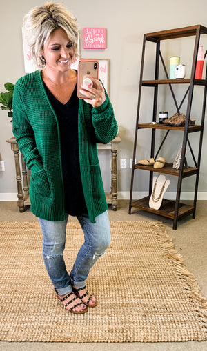 Zenana | Wren Waffle Cardigan | - Preppy Pineapple Boutique
