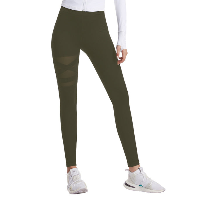 Gym Leggings Cross High Waist Yoga Pants