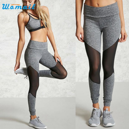 Mesh Patchwork Stitching Yoga Fitness Leggings