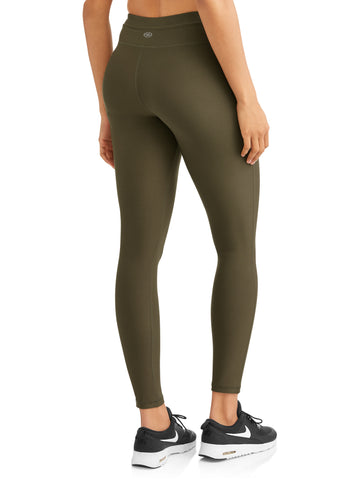 N.Y.L. Sport Women's Active Drawstring Performance Legging With Front Pockets - unitedstatesgoods