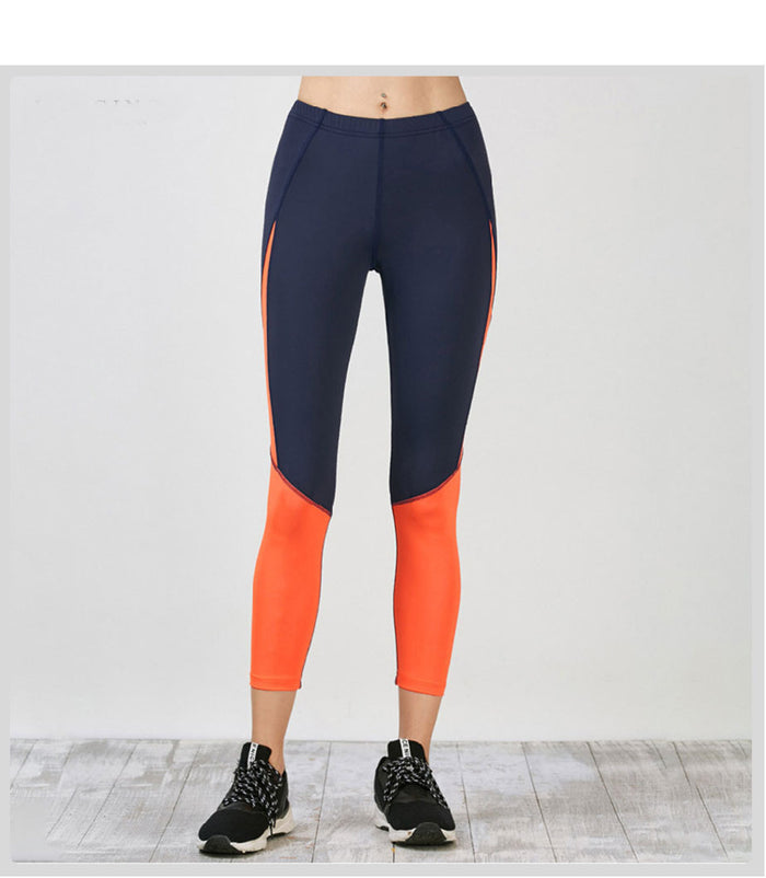 Contrast stitching yoga leggings
