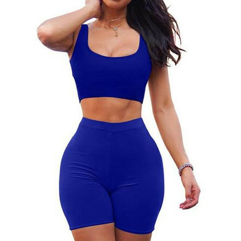 2 Piece Set Women Yoga Summer Women's Two Piece Dress Crop Top Skirt Set Sleeveless Outfits Summer Clothes For Women Sleeveless