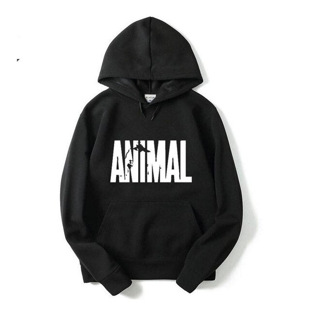 2017 Autumn and winter Bodybuilding Hoodies Men Animal Gyms Sweatshirts Long Sleeve Cotton Sportwear Fitness Pullover Muscle Top - unitedstatesgoods