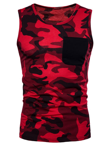 Pocket Camo Cool Tank Top - unitedstatesgoods