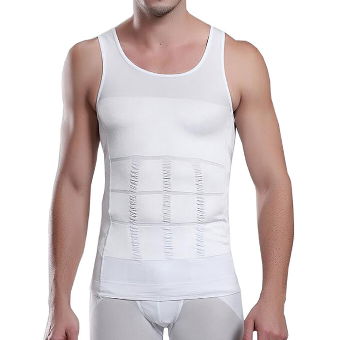 Men's Body Shaper Slimming Shirt Tummy Waist Vest - unitedstatesgoods